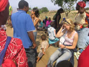 Images from Woza Nawe Cultural Tours - Guests with local Swazi people