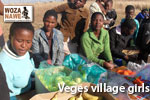 Village Girls selling Vegetables